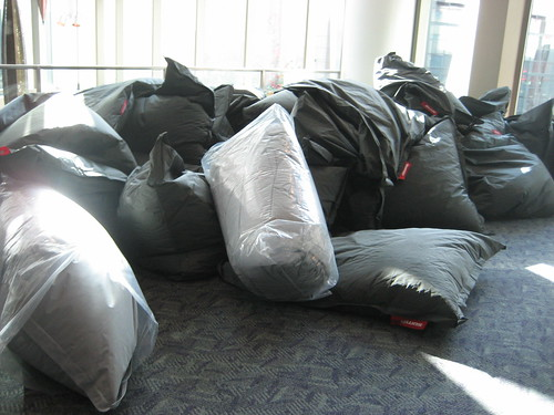 Beanbags were ready!