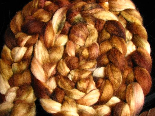 Autumn Oak BFL Top Roving