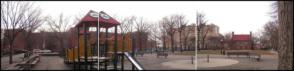 Sophie at a playground, Brooklyn