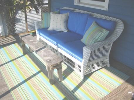Whitecraft Sofa and Dash & Albert Rug in Pawleys Island.
