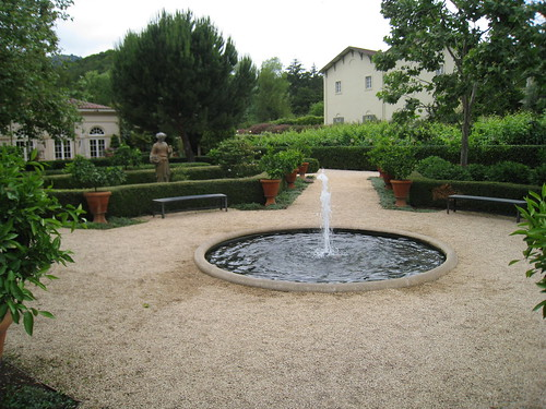 Garden area at Chateau St. Jean