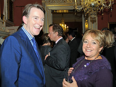 Peter Mandelson at Fashion Week reception