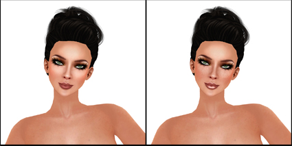 AtomicBambi Lana Skin Release in Sunblush - Olive Makeup with two different Lip Styles - Click image for closer look