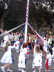 Maypole dancing, Castelton Garland day