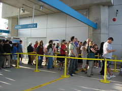 Opening Day Line Up for the Canada Line. Photo Credit: The Buzzer