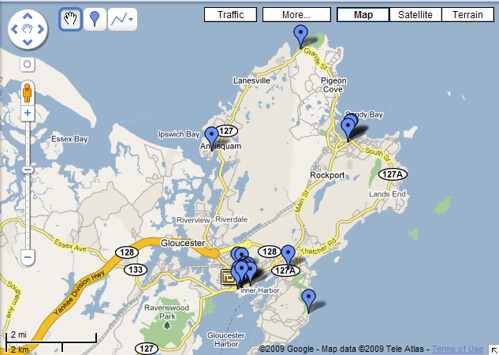 clcik the map to find free wi-fi on Cape Ann