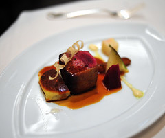 4th Course: Foie Gras-Stuffed Scottish Grouse