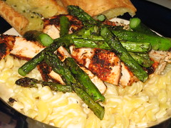 grilled asparagus and chicken pasta