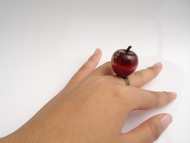 Red Delicious apple ring by Orderly Civilians