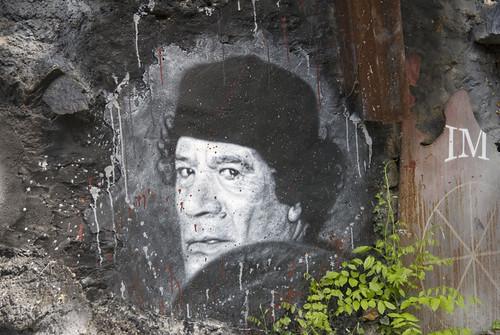 Muammar al Gaddafi R.I.P. Mouammar Kadhafi Colonel Quaddafi painted portrait _DDC6346