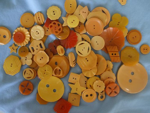 Marty's vintage button collection - ivory Bakelite
