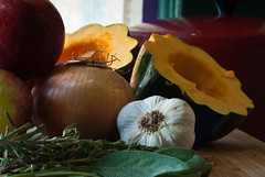 Autumn harvest still-life