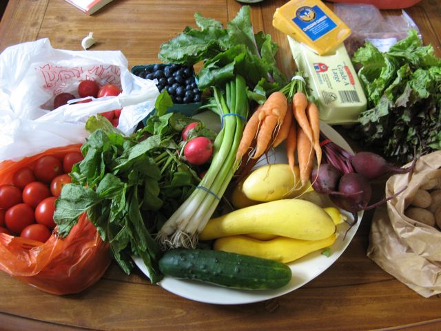 Farmers Market Haul, 8/4/2009