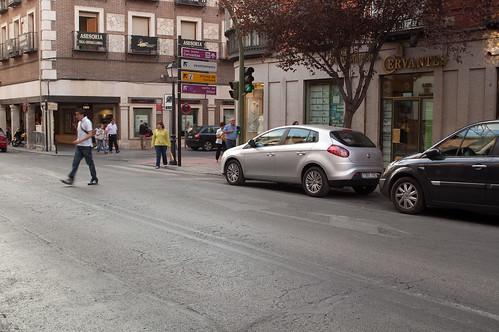 Esquina de la calle Libreros con la calle del Tinte en la actualidad