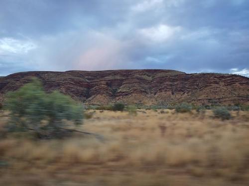 Blurring past the hills