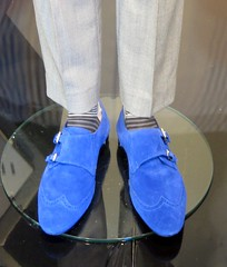 Blue Suede Shoes in Marks & Spencer's window