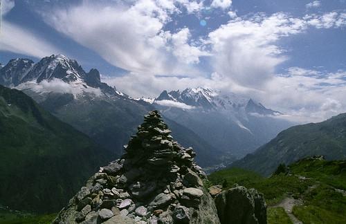 Summit cairn