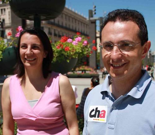 Miguel Martínez Tomey y Leticia Crespo, candidatos de CHA al Parlamento Europeo