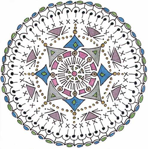mandala #10 marker & gel ink on paper (c) 2009, Lynne Medsker