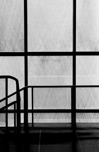 Stairs, Museum of Modern Art. (Fuji Neopan 1600. Nikon F100. Noritsu Koki.)