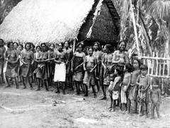 Carolinians Dancing in Agana, 1900