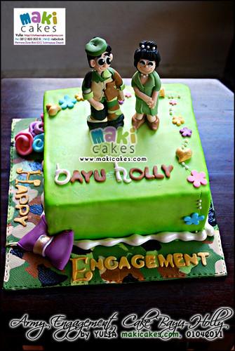 Army-Military Engagement Cake_ - Maki Cakes