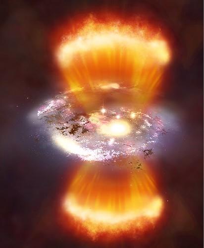 Galaxies 'Coming of Age' in Cosmic Blobs (Chandra, 24jun09)