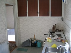 The kitchen - when we first bought the house