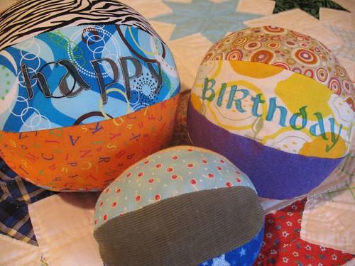 Set of Fabric Balls