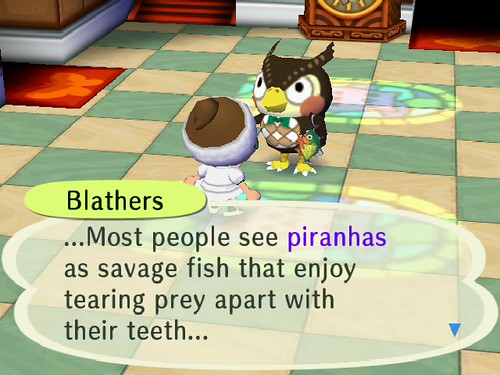 Blathers was impressed!