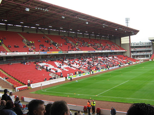 The East Stand, and the unusual stand in the corner