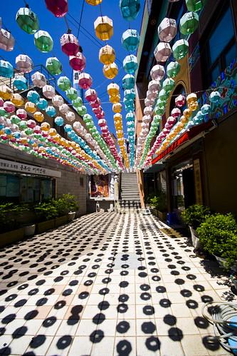 Korean lantern space