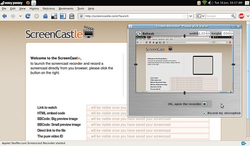 ScreenCastle.com Web Interface