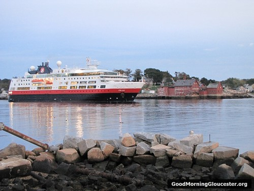 MS Fram Leaves Gloucester Harbor Pics From Paulie Frontiero