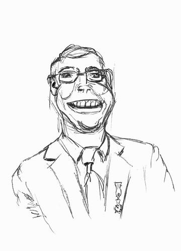 Caricature of Mart van Aalst