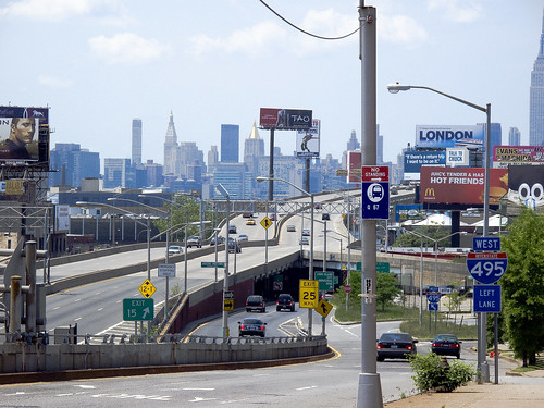 from the other side of the Queens Midtown Expressway by you.