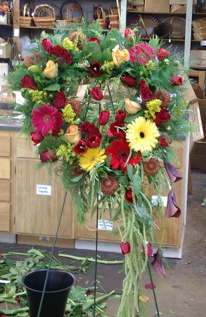heart wreath funeral