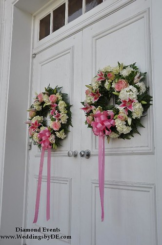 Chapel Doors with Wreaths