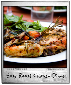 Easy Quick Roast Chicken Dinner