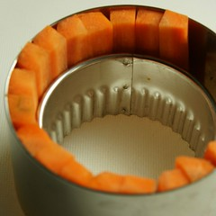 Aufstellen der Karottenpalisaden