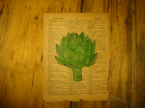A is for artichoke.