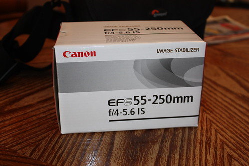 a 55 - 250 mm zoom lens for my Canon DSLR