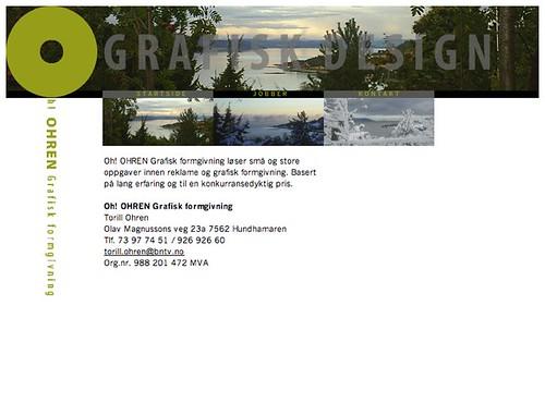 Ohren Grafisk design - Frontpage