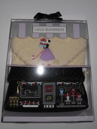 Lulu Guinness Pouch and Handkerchief set - S$95