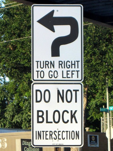 Turn Right to Go Left