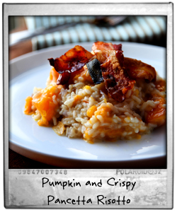 Pumpkin and Crispy Pancetta Risotto