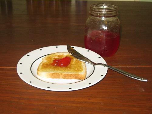 crabapple jelly on toast
