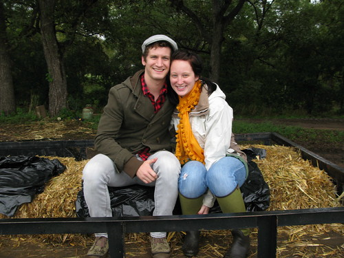 Mr. and Mrs. Fancy Pants on the hayride