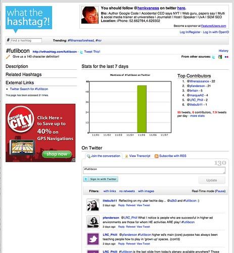 Twitter Visualization: FutLibCon - WTHashtag