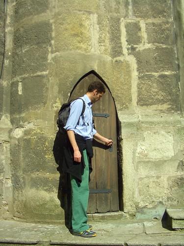 Big Man, Little Door (Nate)